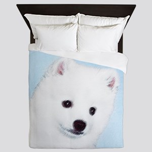 American Eskimo Dog Queen Duvet