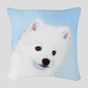American Eskimo Dog Woven Throw Pillow