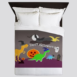 Happy Halloween Dinosaurs Kids Queen Duvet