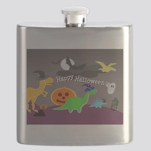 Happy Halloween Dinosaurs Kids Flask