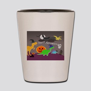 Happy Halloween Dinosaurs Kids Shot Glass
