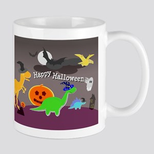 Happy Halloween Dinosaurs Kids Mugs