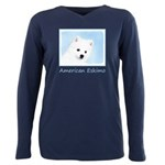 American Eskimo Dog Plus Size Long Sleeve Tee
