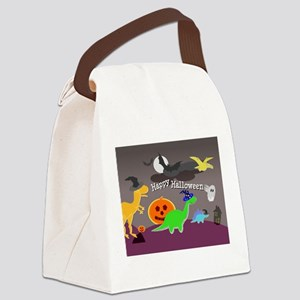 Happy Halloween Dinosaurs Kids Canvas Lunch Bag