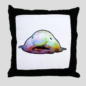 Blobfish, Psychrolutes marcidus Throw Pillow