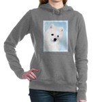 American Eskimo Dog Women's Hooded Sweatshirt