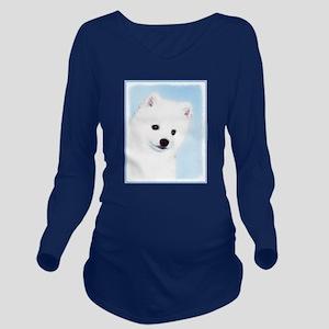 American Eskimo Dog Long Sleeve Maternity T-Shirt