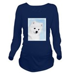 American Eskimo Dog Long Sleeve Maternity T-Shirt