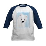 American Eskimo Dog Kids Baseball Tee