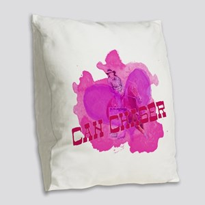Can Chaser - Barrel Racer Burlap Throw Pillow