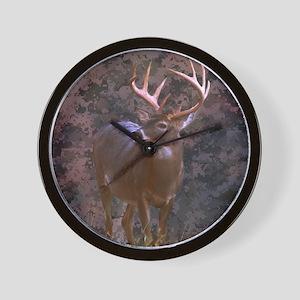 camouflage deer outdoor decor Wall Clock