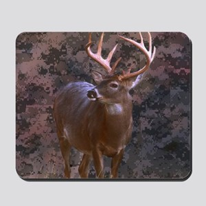 camouflage deer outdoor decor Mousepad