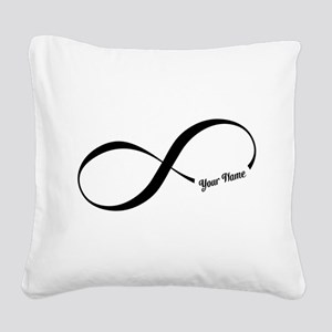 Infinity Word CUSTOM TEXT Square Canvas Pillow