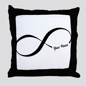 Infinity Word CUSTOM TEXT Throw Pillow