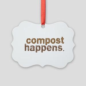 Compost Happens Picture Ornament