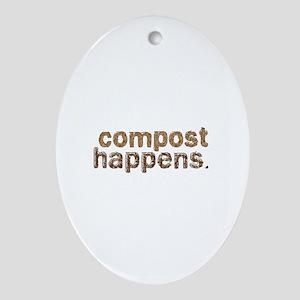 Compost Happens Ornament (Oval)