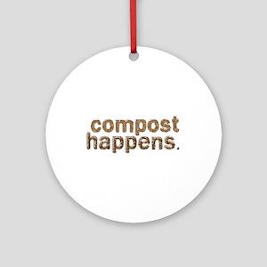 Compost Happens Ornament (Round)