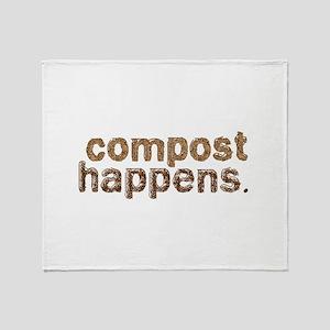 Compost Happens Throw Blanket