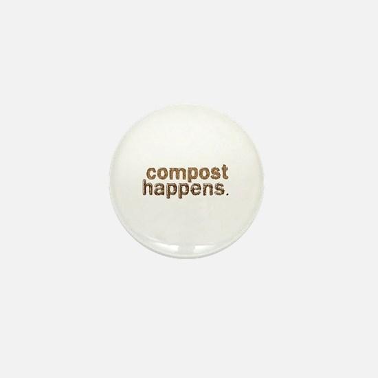 Compost Happens Mini Button