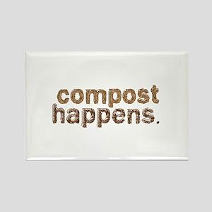 Compost Happens Rectangle Magnet