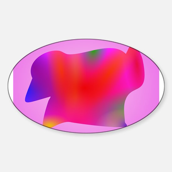 Red Map Art Pink Decal
