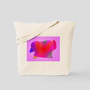 Red Map Art Pink Tote Bag