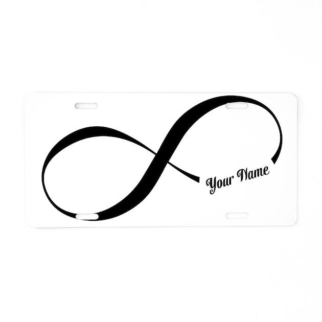 infinity word custom text aluminum license plate by trendyteeshirts