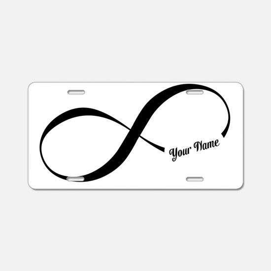 Infinity Word CUSTOM TEXT Aluminum License Plate
