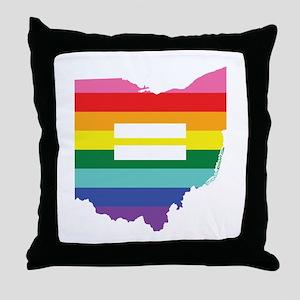 Ohio equality Throw Pillow