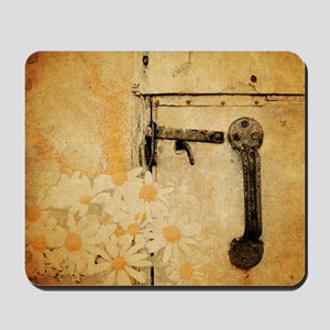 rustic country daisy Mousepad