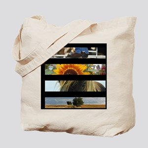 cowboy sunflower western country Tote Bag
