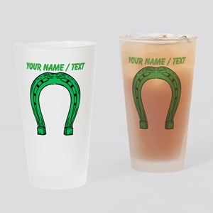 Custom Green Horseshoe Drinking Glass