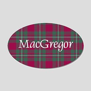 Tartan - MacGregor 20x12 Oval Wall Decal