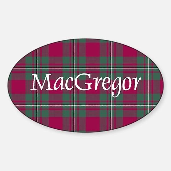 Tartan - MacGregor Sticker (Oval)
