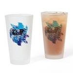 Snowmobile GUY Drinking Glass