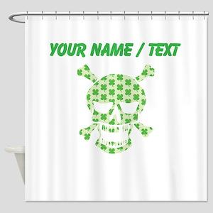 Custom Irish Pirate Skull And Crossbones Shower Cu