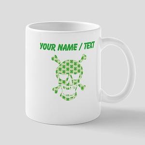 Custom Irish Pirate Skull And Crossbones Mugs