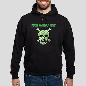 Custom Irish Pirate Skull And Crossbones Hoodie