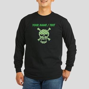 Custom Irish Pirate Skull And Crossbones Long Slee