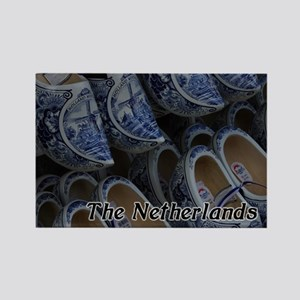 Delft Clogs Netherlands Rectangle Magnet