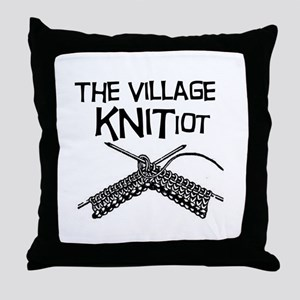The Village KNITiot Throw Pillow