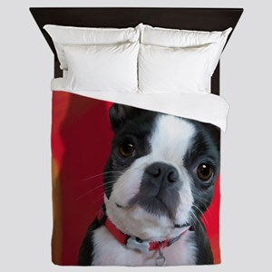 Ruthie the Boston Terrier Queen Duvet