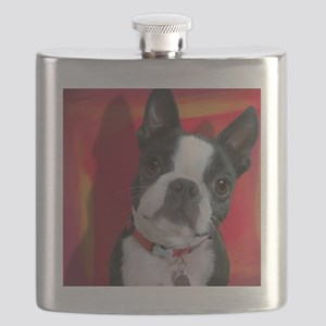 Ruthie the Boston Terrier Flask