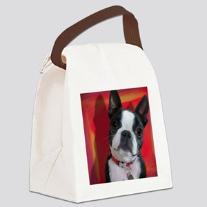 Ruthie the Boston Terrier Canvas Lunch Bag