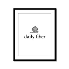 Daily Fiber - Yarn Ball Framed Panel Print
