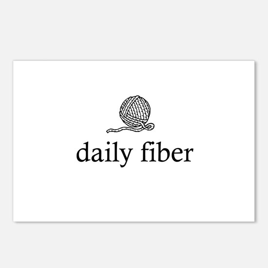 Daily Fiber - Yarn Ball Postcards (Package of 8)