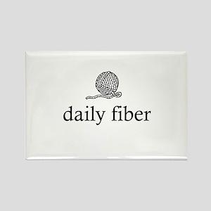 Daily Fiber - Yarn Ball Rectangle Magnet