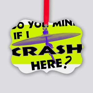 Crash Here  Picture Ornament