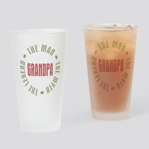 Grandpa The Man Myth Legend Drinking Glass