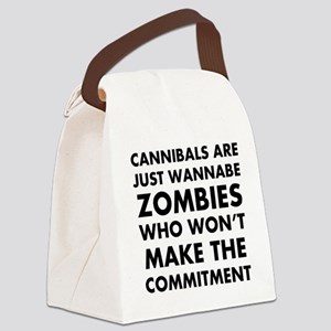 Cannibals Zombies Canvas Lunch Bag